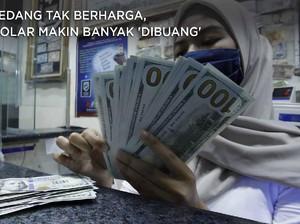 Sedang Tak Berharga, Dolar Makin Banyak 'Dibuang'