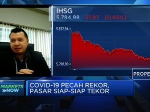 Covid-19 Pecah Rekor, IHSG Masuk Zona Merah