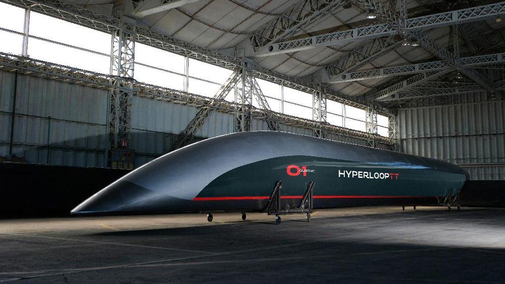 Kereta Hyperloop (AP Photo)