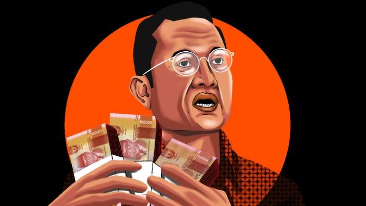 Infografis/ Cerita lengkap meneteri Sosial, Kasus Kasus Korupsi dana Bansos Covid-19/Aristya Rahadian