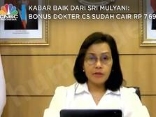 Kabar Baik Sri Mulyani: Bonus Dokter Cs Sudah Cair Rp 7,69T