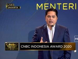 Erick Thohir Raih Penghargaan The Most Influential Minister