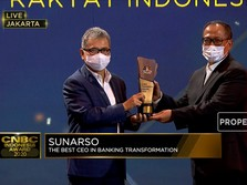 Sunarso Dianugerahi The Best CEO in Banking Transformation