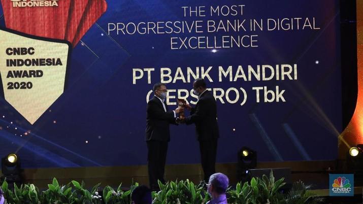 The Best Digitalized PT Bank Mandiri (Persero) Tbk, Darmawan Junaidi Direktur Utama. (CNBC Indonesia/Andrean Kristianto).