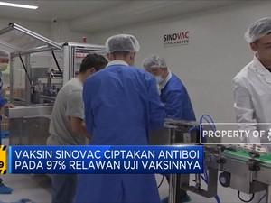 Vaksin Sinovac Ciptakan Antibodi 97%