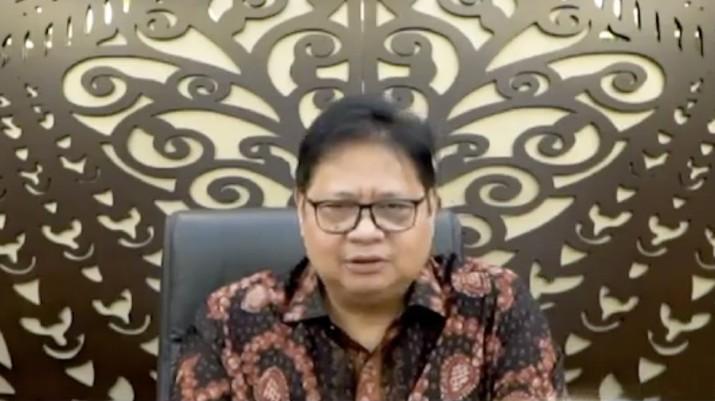 Airlangga Hartanto. (CNBC Indonesia TV)