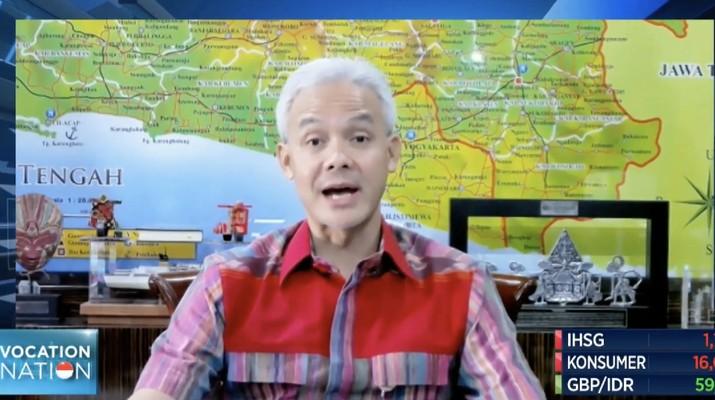 Gubernur Jawa Tengah, Ganjar Pranowo (CNBC Indonesia TV)