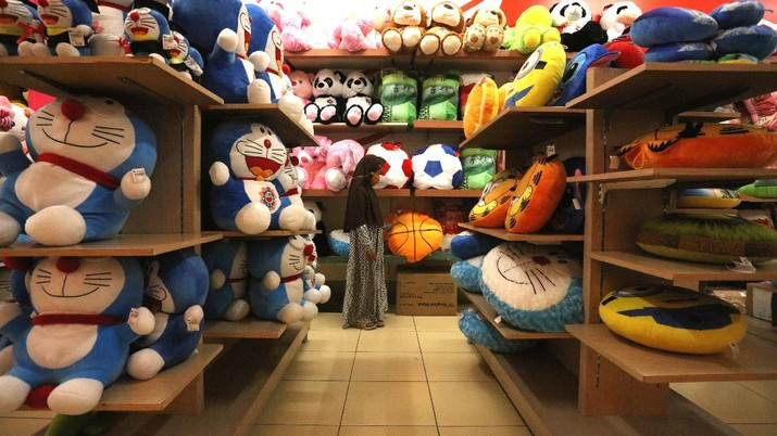 Suasana Borobudur Departmen Store, Ciledug Raya, Tangerang Selatan yang Sepi Pengunjung (CNBC Indonesia/Tri Susilo)