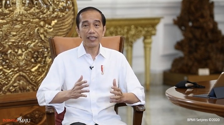 Jokowi Saat Keterangan Pers Presiden RI Vaksin Gratis, Istana Merdeka, 16 Desember 2020