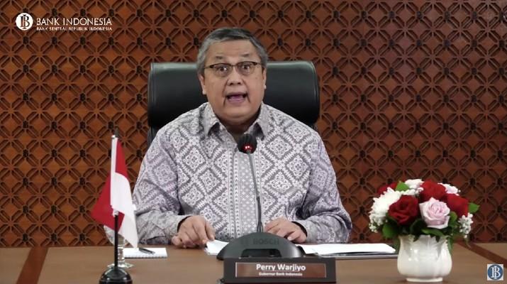 Gubernur BI Perry Warjiyo di Rapat Dewan Gubernur (RDG) Bulanan BI - Desember 2020 (Tangkapan Layar Youtube BI)
