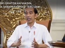 Jokowi Gratiskan Vaksin, Ini Dia Saham Farmasi Tercuan!
