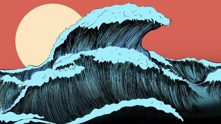 infografis, Peristiwa Tsunami Terdahsyat di Indonesia