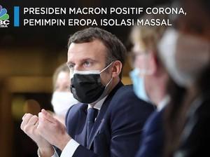 Presiden Macron Positif Corona, Pemimpin Eropa Isolasi Massal