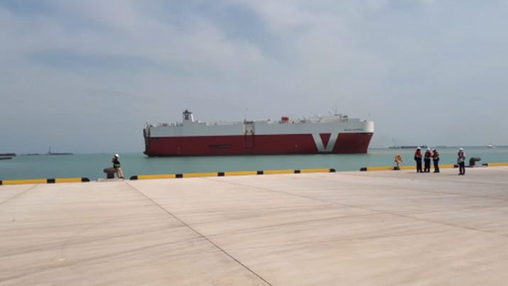 Pelabuhan Internasional Patimban Subang Jawa Barat. (Dok. Dirjen Perhubungan Laut Kemenhub)