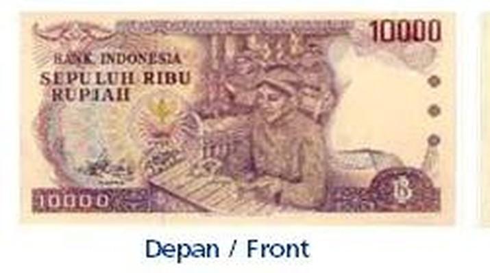 Uang kertas pecahan Rp 10.000 Tahun Emisi 1979. (Dok. Bank Indonesia.)