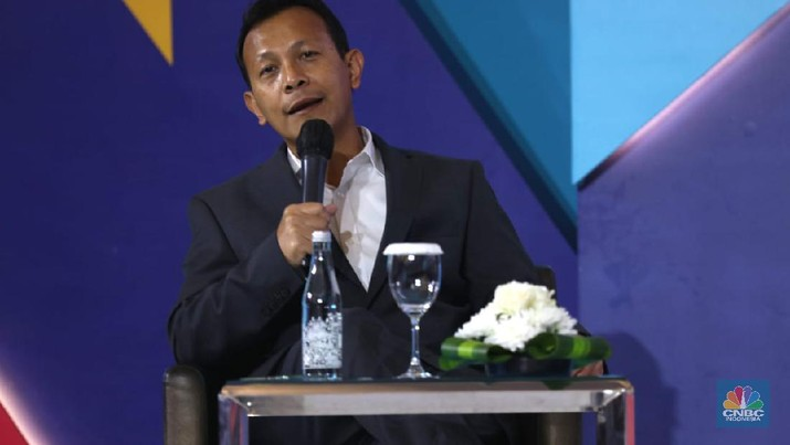 Direktur Mitras DUDI, Ahmad Saufi dalam acara Vocational Outlook 2020. (CNBC Indonesia/ Tri Susilo)