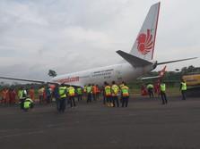 Intip Evakuasi Pesawat Lion Air yang Tergelincir di Lampung