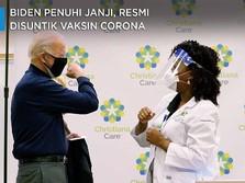 Biden Penuhi Janji, Resmi Disuntik Vaksin Corona