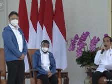 'Misteri' Jaket Biru yang Dipakai 6 Menteri Baru Jokowi