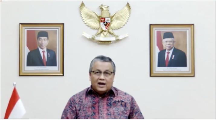 Gubernur Bank Indonesia, Perry Warjiyo dalam acara Outlook Perekonomian Indonesia 2021. (Tangkapan Layar Youtube PerekonomianRI)