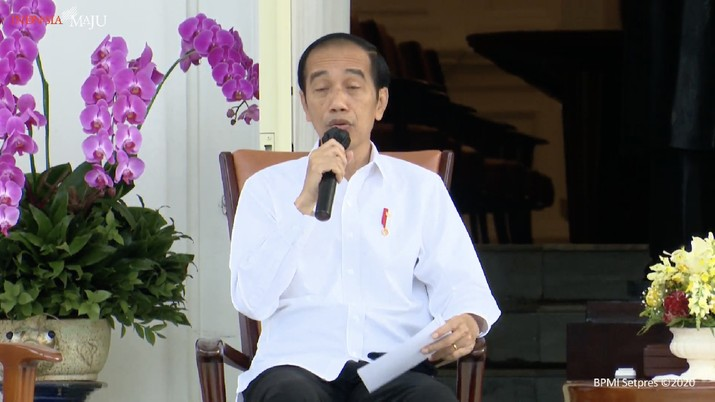 Keterangan Pers Presiden Joko Widodo (Tangkapan Layar Youtube Sekretariat Presiden)