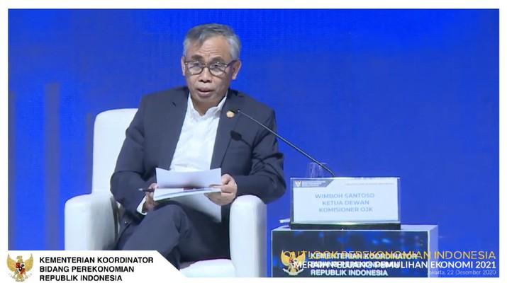 Ketua Dewan Komisioner Otoritas Jasa Keuangan (OJK) Wimboh Santoso dalam acara Outlook Perekonomian Indonesia 2021. (Tangkapan Layar Youtube PerekonomianRI)
