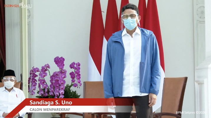 Sandiaga S Uno (Tangkapan Layar Youtube Sekretariat Presiden)