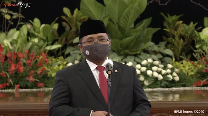 Menteri Agama (Menag), Yaqut Cholil Quomas (Tangkapan Layar Youtube Sekretariat Presiden)