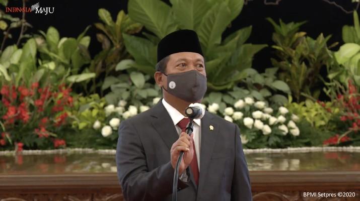 Menteri Kelautan dan Perikanan (KKP), Sakti Wahyu Trenggono (Tangkapan Layar Youtube Sekretariat Presiden)