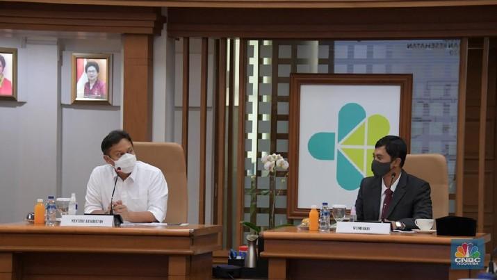 Menteri Kesehatan Budi Gunadi Sadikin di kantor Kemenkes RI, Rabu (23/12/2020).