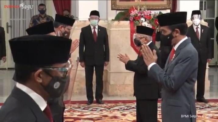 Pelantikan Menteri Baru Jokowi/Youtube Setpres