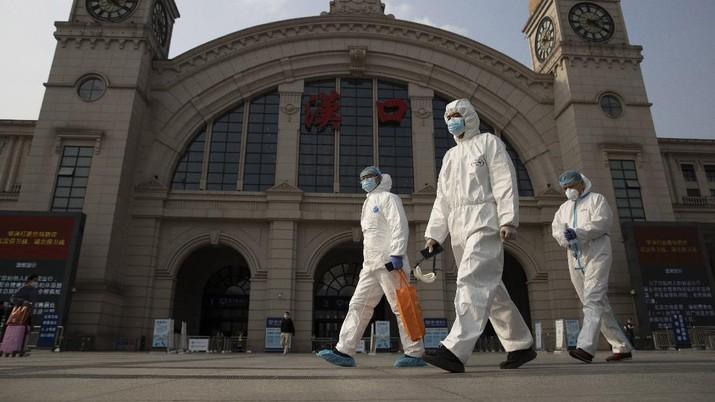 Pandemi Covid-19 di China. (AP/Ng Han Guan)