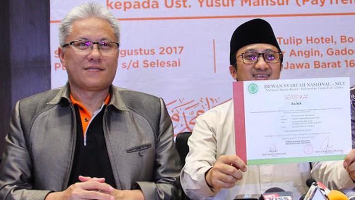 Hari Prabowo, Direktur Utama Paytren dan Ustaz Yusuf Mansur/Paytren