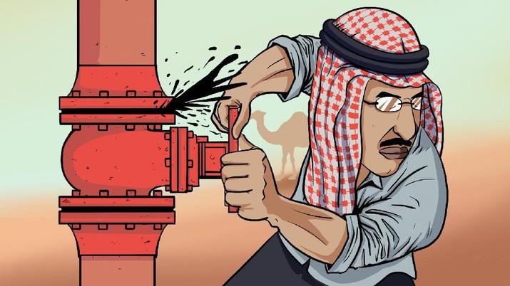INFOGRAFIS, Arab Temukan 4 Sumur Migas Baru