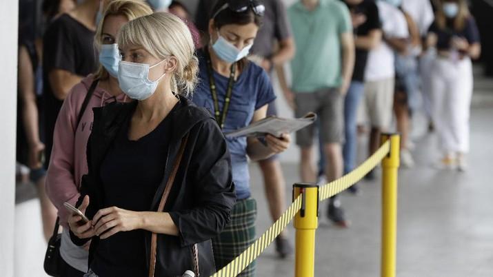 Klaster baru virus korona (covid-19) muncul di kota Sydney. (AP/Mark Baker)