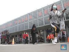 Penampakan Stasiun Pasar Senen Jelang Akhir Tahun