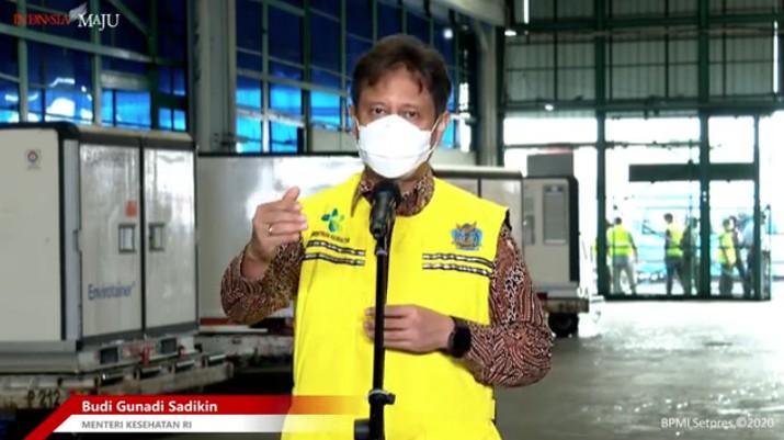 Menteri Kesehatan Budi Gunadi Sadikin saat Konfrensi Pers Kedatangan Vaksin Covid-19 Tahap 2, Bandara Soekarno Hatta, 31 Desember 2020.  (Tangkapan Layar Youtube Sekretariat Presiden)