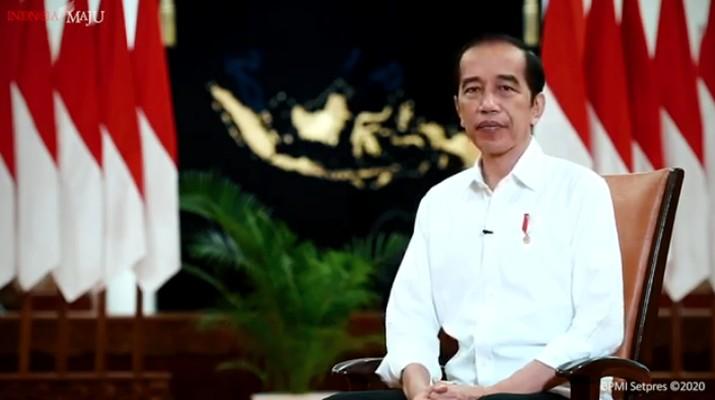Sambutan Presiden Joko Widodo Menyambut Tahun 2021. (Tangkapan Layar Youtube Sekretariat Presiden)