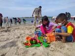 Begini Suasana Pantai Ancol Saat Libur Tahun Baru