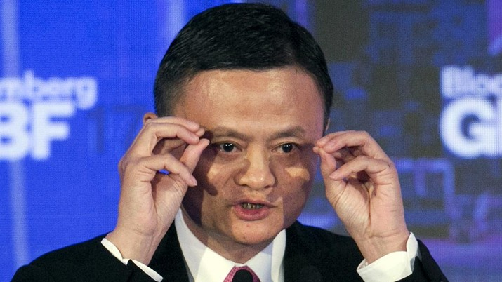 In this Sept. 20, 2017, file photo, Alibaba Group Chairman Jack Ma speaks at the Bloomberg Global Business Forum in New York. Remarks by Ma, one of China's richest men, that young people should work 12-hour days, six days a week if they want financial success have prompted a public debate over work-life balance in the country. (AP Photo/Mark Lennihan, File)