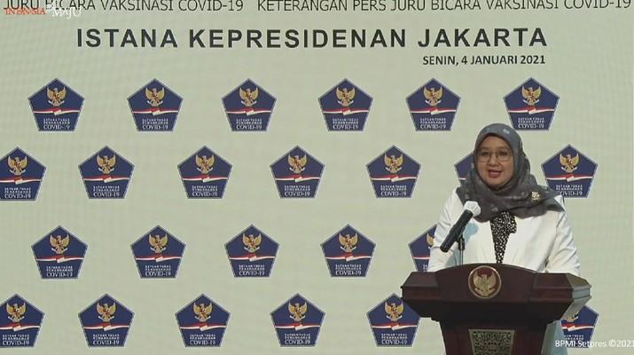 Juru Bicara Program Vaksinasi Covid-19 Siti Nadia (Tangkapan Layar Youtube)
