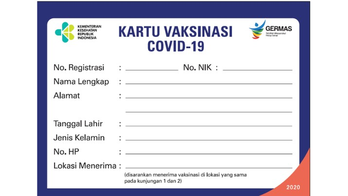 Kartu Vaksinasi Covid-19