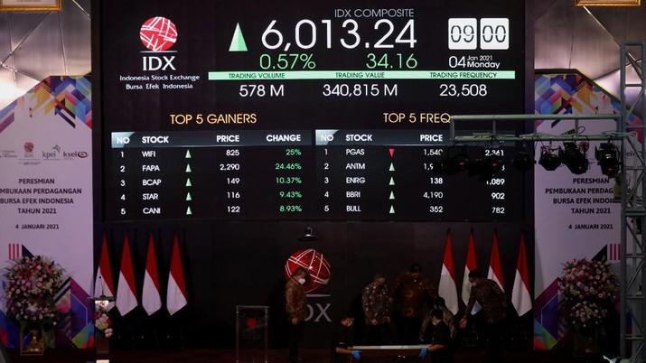 Pembukaan Bursa Efek Indonesia (CNBC indonesia/Tri Susilo)