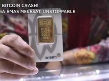 Saat Bitcoin Crash! Harga Emas Melesat, Unstoppable!