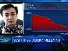 Terimbas Wall Street, IHSG di Buka Melemah