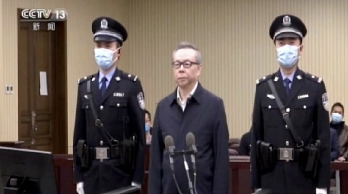Lai Xiaomin, bankir top China dihukum mati atas tuduhan korupsi dan bigami. (Foto/CCTV13)