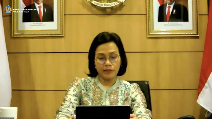 Sri Mulyani Konferensi Pers: Realisasi Pelaksanaan APBN TA 2020 (Tangkapan Layar Youtube Menteri Keuangan)