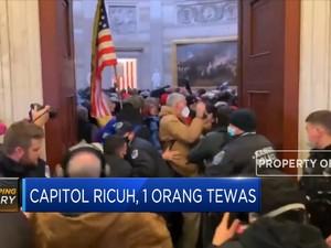 Capitol Ricuh Akibat Pendukung Trump, 1 Orang Tewas