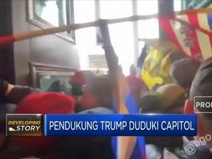 Begini Suasana Chaos Saat Pendukung Trump Duduki Capitol