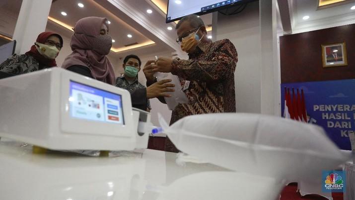 GeNose C19 adalah alat pendeteksi COVID-19 besutan para ahli Universitas Gadjah Mada. (CNBC Indonesia/Andrean Kristianto)
